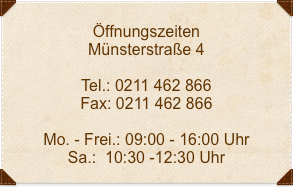 Öffnungszeiten-Münsterstraße