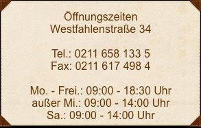 Öffnungszeiten-Westfahlenstraße
